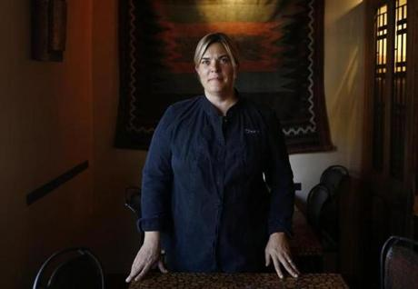 Chef-owner Ana Sortun at Oleana in Cambridge.