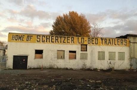 03unionsquare - Schertzer Lo-Bed Trailers, which was knocked down at the end of 2014. (Charan Devereaux)