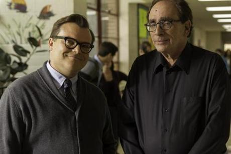 "R. L. Stine (right) with Jack Black, who plays a character named R. L. Stine in the new film ""Goosebumps."""