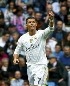 PORTUGAL: Real Madrid's Portuguese striker Cristiano Ronaldo celebrated a goal during a match in October.