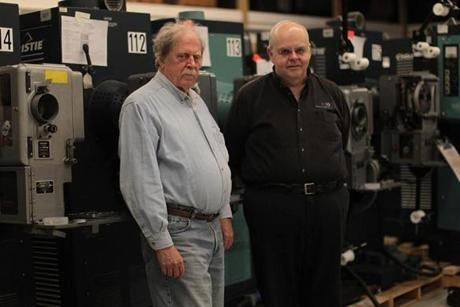 Chapin Cutler and Larry Shaw (left), cofounders of Boston Light & Sound