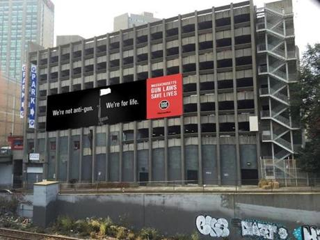 Renderings of the billboard at its new site at Boylston and Dalton streets in the Back Bay.