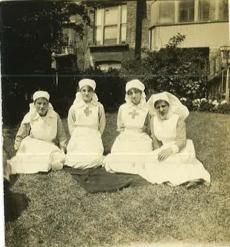 Winifred Regensburg (second from left) was a nurse at Beech House.