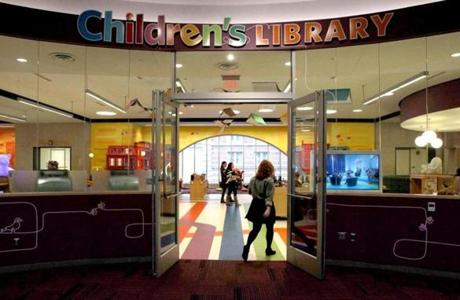 Boston, MA: 01-26-2016: The Children's Library at the Boston Public Library in Boston, Mass. January 26, 2016. The area was opened in February 2015 as part of an ongoing restoration project. Photo/John Blanding, Boston Globe staff story/Dan Adams, Business ( 15BPLrenovations )