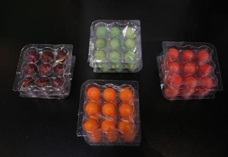 NuFruit, balls of pureed fruit, will be tested in 40 area supermarkets this spring.