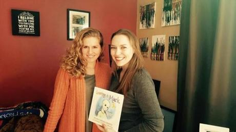 Dorian's mother Melissa Murray (right) and co-author Nicole DeRosa Cannella held the book together.