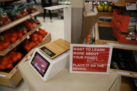 An experimental scanner for checking food ingredients was deployed at the South Bay Target.
