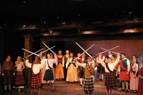 "Members of the College Light Opera Company performed ""Brigadoon."""