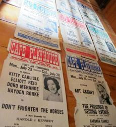 Posters from the last 90 seasons cover the walls of the Cape Playhouse in Dennis.