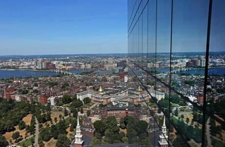 BOSTON, MA - 7/20/2016: A view form a condo on the 51st floor...Millennium Tower Boston, downtown crossing at Summer and Washington streets.... an architecture review (David L Ryan/Globe Staff Photo) SECTION: ARTS TOPIC 17Tower