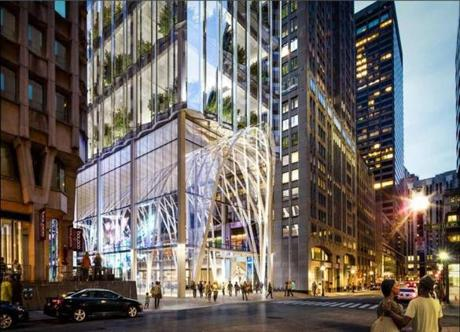 Millennium Partners' proposal for the site of the Winthrop Square Garage.