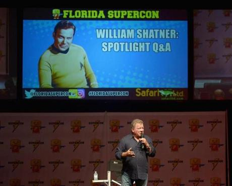 William Shatner's appearance at the Miami Beach Convention Center in July.