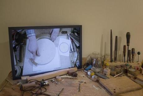 """The New Domestic Woodshop"" videos (detail) by Ethan Hayes-Chute."