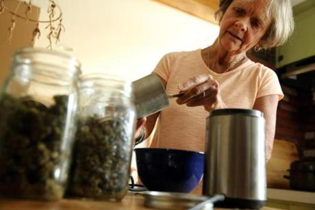 Ellen Lenox Smith, 66, suffers from chronic pain, and she grows and prepares marijuana for herself and five other people.