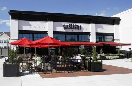 25nodine - Lynnfield, MA: 9/16/16 Gaslight Lynnfield at 1100 Market Street has indoor and outdoor seating and is available for private events. (Mary Schwalm for The Boston Globe)