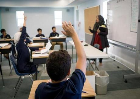 Science class at the Garden of Sahaba Academy, the Islamic school at the Islamic Center of Boca Raton.