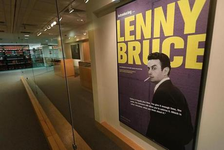 The Lenny Bruce exhibit at Brandeis University.