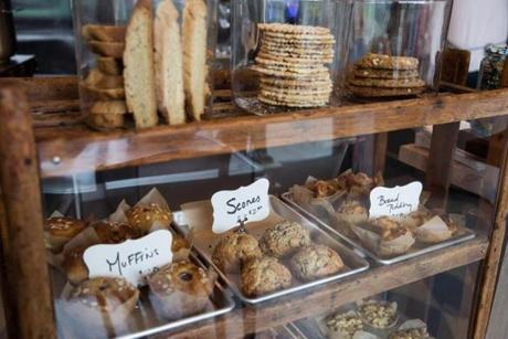 10/28/16 -- Chestnut Hill, MA -- The bakery case full of Italian baked goods is seen at Ronsky's, chef Ron Suhanosky's new pop-up project at The Street shopping center in Chestnut Hill, Massachusetts. (Kayana Szymczak for the Boston Globe)