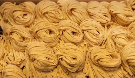 Piles of pasta at Eataly.