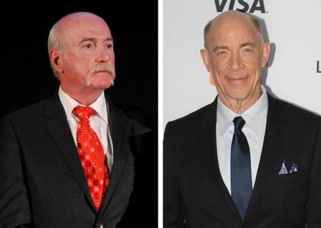 Watertown police Sgt. Jeffrey Pugliese, left, and actor J.K. Simmons.