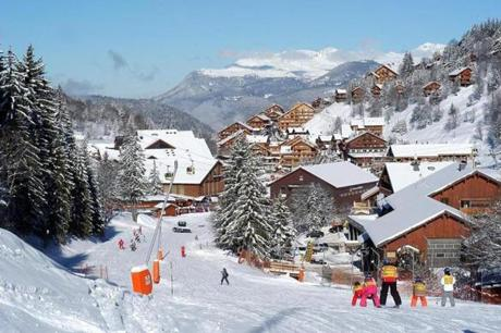 Les Trois Vallees, a ski region in France.