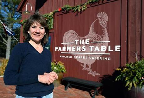 Plymouth 12/30/2016 : Owner of the Farmer's Table in Plymouth Lynn Tripp . Photo by Debee Tlumacki for the Boston Globe (regional)