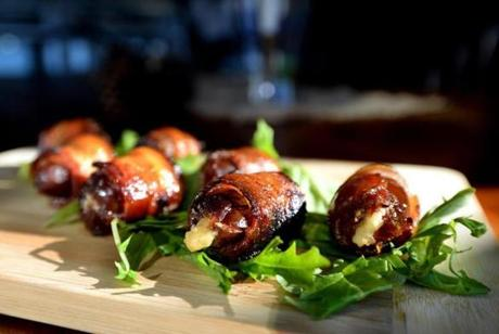 Plymouth 12/30/2016 : The Gorgonzola-stuffed dates at the Farmer's Table in Plymouth. Photo by Debee Tlumacki for the Boston Globe (regional)