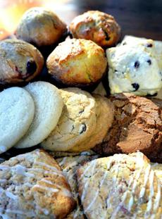 Plymouth 12/30/2016 : Scones, cookies and muffins at the Farmer's Table in Plymouth. Photo by Debee Tlumacki for the Boston Globe (regional)