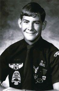 A young Tillerson in his Eagle Scout uniform.