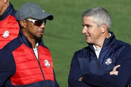 The new commissioner spoke with Tiger Woods at last year's Ryder Cup.