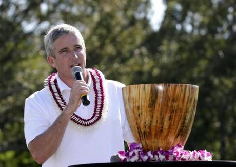 Monahan at the Tournament of Champions in Hawaii earlier this month.