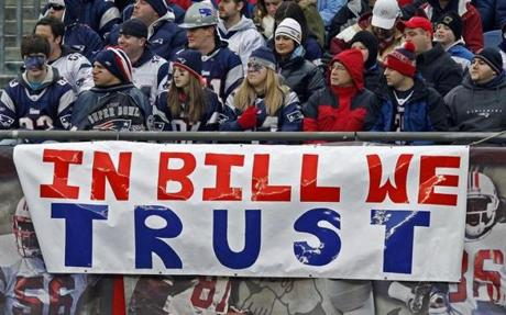 Fans, seen here in 2009, rarely waver in their support of Belichick.