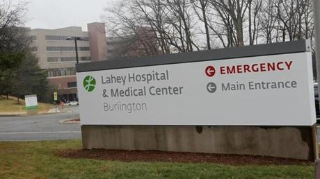 Burlington's Lahey Hospital & Medical Center would be part of the merged operation.