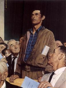 HANDOUT PHOTO---Freedom of Speech 1943, from the Norman Rockwell Book, Pictures for the American People (barros)