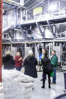 2/4/17 Salem, MA -- An employee gives a tour at Smuttynose Brewery in Hampton, NH February 4, 2017. Erik Jacobs for the Boston Globe