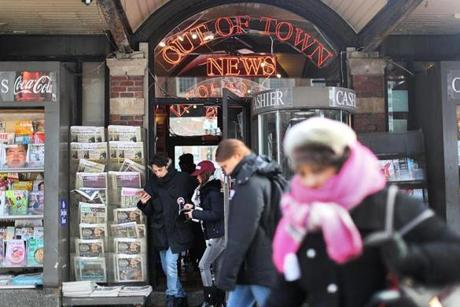 Cambridge, MA., 0213/17, Out of Town News in Harvard Square. Suzanne Kreiter/Globe staff