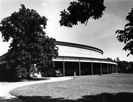 Stockbridge, MA - 7/1/1946: The Music Shed at Tanglewood, summer 1946. [Date unknown - estimated to month] (Charles F. McCormick/Globe Staff) --- BGPA Reference: 170216_EF_008