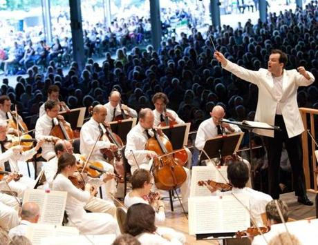 Andris Nelsons at Tanglewood. Photo credit: Hilary Scott. 17summerclassicalpicks