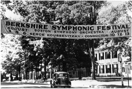 Berkshire Symphonic Festival Banner 1939 Photo credit: Photographer Unknown, Courtesy of the BSO --- 17twoodmain