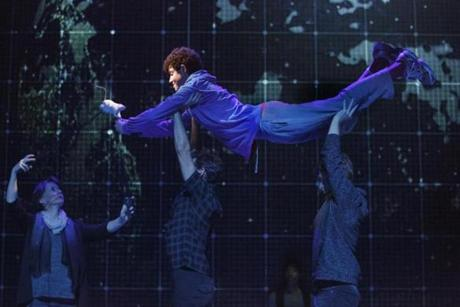 "Adam Langdon (center) in ""The Curious Incident of the Dog in the Night-Time."""