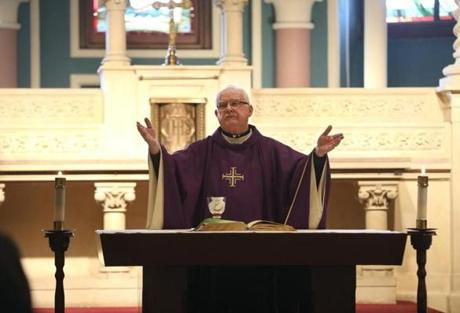 Father Daly celebrated Mass at Gate of Heaven Church.