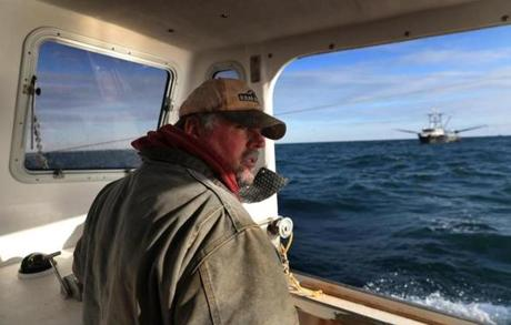 Jim Wotton, captain of Overkill Time, sees a threat from large fishing boats that don't have quotas.