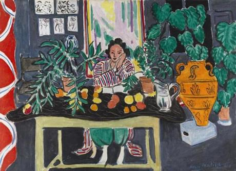 """Interior with an Etruscan Vase,"" 1940, oil on canvas."