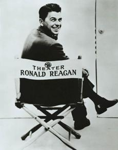 "Future president Ronald Reagan worked as a TV host for ""General Electric Theater"" in the 1950s and '60s, metamorphosing from New Deal Democrat to free-enterprise Republican."