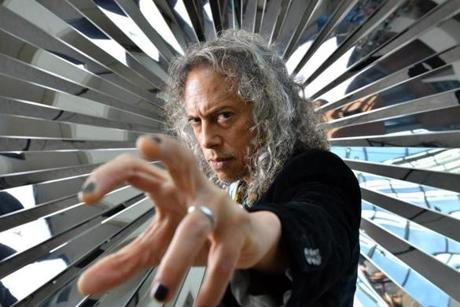 Metallica guitarist Kirk Hammett at the Peabody Essex Museum.