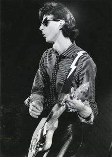 Ric Ocasek of The Cars at the Garden in 1980.