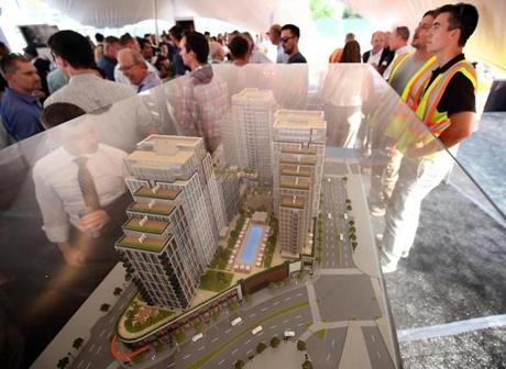 A model of the Echelon Seaport at the project's groundbreaking in June.