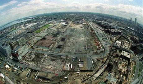 The future site of the Boston Convention & Exhibition Center, in 2000.