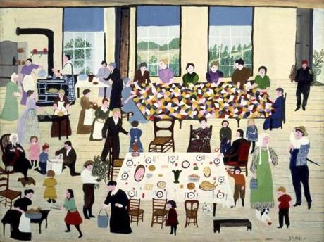 "Grandma Moses's ""The Quilting Bee"""