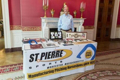 St. Pierre Manufacturing of Worcester, Mass., was at the White House event.